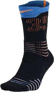 Men's KD Hyper Elite Crew Basketball Socks (Large (8-12)Blk/Blue/Orange