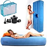 YESINDEED The Original Brazilian Butt Lift Bed with Hole, Inflatable BBL Mattress – Dr. Approved for Post Surgery Recovery, Waterproof Flocked Top Comfortable & Supportive + Carrying Bag and Air Pump