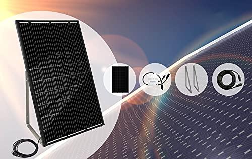 Mini-Solaranlage 300Wp (Mini-Solaranlage 300WP + Gestell + Kabel10m)