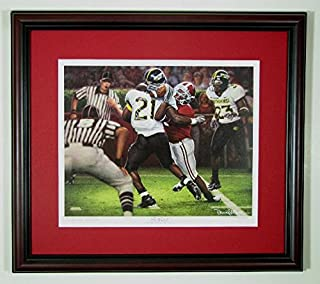 Alabama Football The Catch featuring Tyrone Prothro by Daniel Moore Framed Print