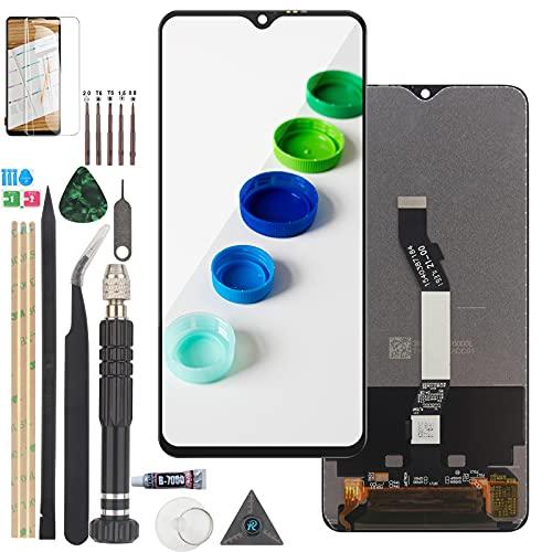 RongZy Schermo LCD per Xiaomi Redmi Note 8 Pro Display Touch Screen Digitizer Parti di Ricambio di Riparazione con Strumenti (Nero)