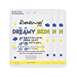 The Crème Shop Dreamy Skin Hydrocolloid Dark Spot Acne Patches - Infused with Salicylic Acid + Witch Hazel | Adhesive patches that fight pesky pimples. (72 Patches / 3 Sizes)