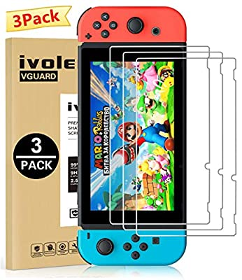 [3 Pack] Screen Protector Tempered Glass for Nintendo Switch, iVoler Transparent HD Clear Anti-Scratch Screen Protector Compatible Nintendo Switch by iVoler