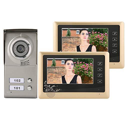 LXYPLM Videoportero Video Doorbell Video Doorbell Kit 7'Video Cableado Timbre Visual Visual Intercom Puerta Bell Entrada Sistema De La Cámara Sistema Smart Security System EE. UU.