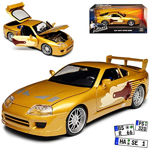 Toyota Supra Gold The Fast and The Furious Slap Jack´s 1995 1/24 Jada Modell Auto