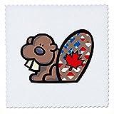 3dRose QS 116146_ 1Cute American Canadian Biber