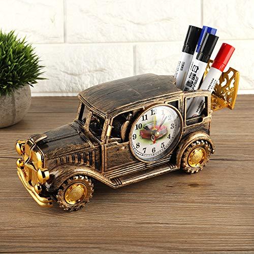 Fabater Klassischer Oldtimer-Wecker Mehrzweck-Multifunktionswecker, Schreibtischwecker, Digitaler Wecker für die Bürofamilie(Bronze)