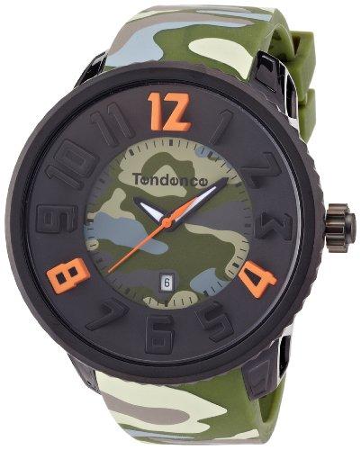 TENDENCE T0430030 - Reloj analógico de Cuarzo Unisex, Correa de plástico Color Verde