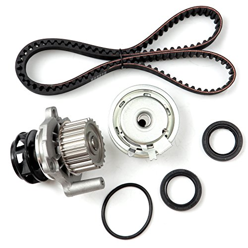 ECCPP Timing Belt Water Pump Kit Fit for 1999 2000 2001 2002 2003 2004 2005 Volkswagen Jetta 2.0L L4 SOHC 8 Valve ENG.CODE AEG AVH AZG BEV