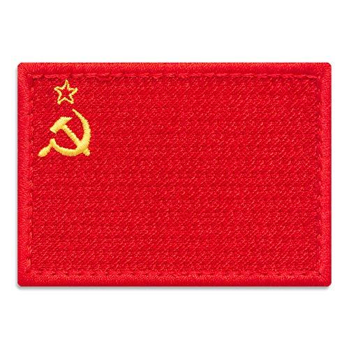 Parche de la bandera de la URSS, emblema nacional de la Unión Soviética, bordado para planchar (2,8 x 2 cm)