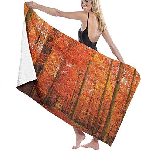 Olie Cam Asciugamani da bagno Foreste Asciugamano da spiaggia Rosso Arredo bagno Vacanze estive per uomo Asciugamani per lavaggio a secco Super assorbenti lunghi