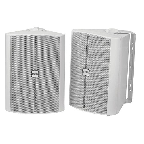 Best Deals! Polk Audio OS70 2-Way Indoor/Outdoor Speakers (Pair, White) - Waterproof | Powerful Bass...