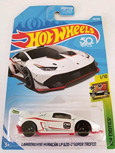 Hot Wheels 2018 50th Anniversary HW Exotics Lamborghini Huracan LP 620-2 Super Trofeo 150/365, White