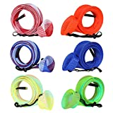 BB Hapeayou Fishing Rod Sleeves, 6Pcs Fishing Pole Protect Cover/Socks/Braided Mesh for freshwater/ Casting/Bait Caster Rods