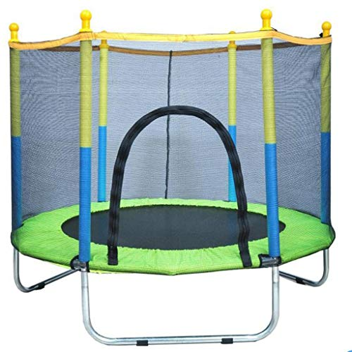 """M-YN Kids Trampoline, 55""""Mini Trampoline for Kids with Enclosure Net and Safety Pad, Heavy Duty Frame Round Trampoline with Built-in Zipper for Indoor Outdoor (Size : U type)"""