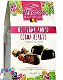 Belvas Hearts - Hearts, belgische vegane Bio-Schokoladenpralinen ohne Zuckerzusatz und ohne...