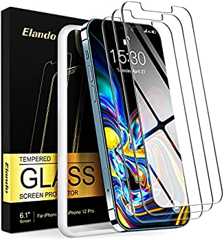 3-Pack Elando Tempered Glass Screen Protector for iPhone 12/12 Pro