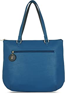 Baggit Spring-Summer 2021 Faux Leather Women's Tote Handbag (Blue) (Colin)