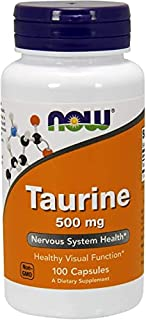 NOW FOODS Taurine 500mg Capsules, 100 CT