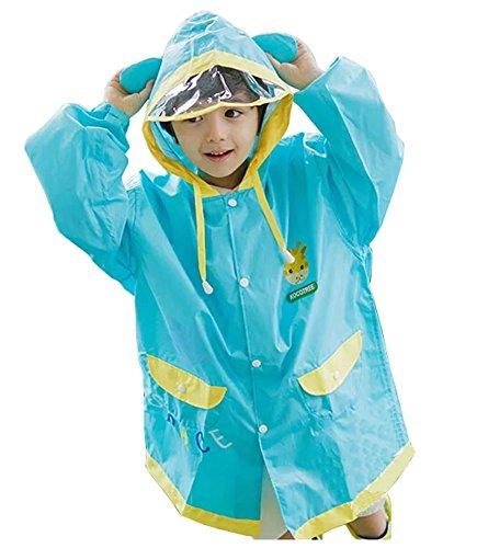Korean Lovely bébé imperméable Mode enfants pluie Bleu clair Girafe S