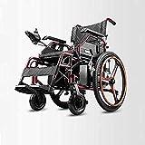 BXZ la silla eléctrica más ligera y compacta Silla plegable eléctrica Rueda auxiliar de movilidad Chai Sillas de ruedas eléctricas Empuje manual/eléctrico Conmutable Conveniente Plegable Ancianos D