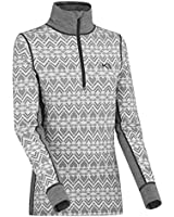 Kari Traa Women's Lune Base Layer Top - Half Zip Synthetic Thermal Shirt Dusty Medium
