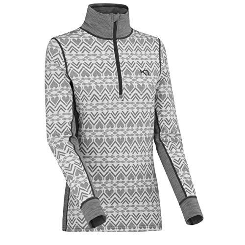 Kari Traa Women's Lune Base Layer Top - Half Zip Synthetic Thermal Shirt Dusty Medium