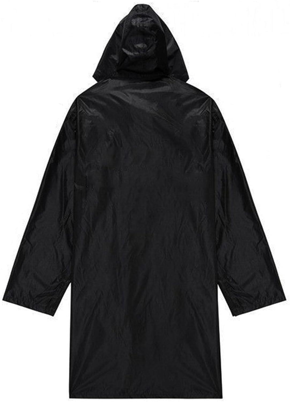 ZEMIN Rain Jacket Coat Raincoat Poncho Windbreaker Waterproof Fashion Cool Adult Polyester, Black, 2 Sizes Available Waterproof
