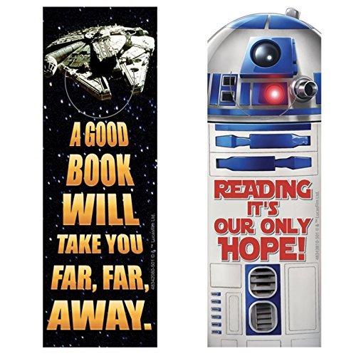 Star Wars Lesezeichen R2D2 Millennium Falcon – Belohnung für Klassenzimmer, Lehrer, Partyzubehör, Motivation, 3 Dutzend (36)