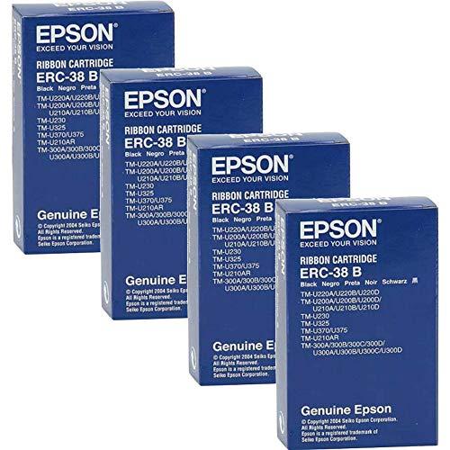 Epson Cartucho ERC38B para TM-U200/U210/U220/U230/U300/U375, Negro