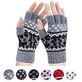 Fingerless Gloves - Womens Winter Warm Gloves Half Finger Mittens Knitted Gloves Wool
