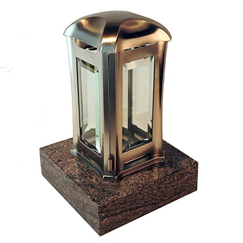 designgrab ael5agb 1para Lampe tombale Venezia en Acier Inoxydable, Argent, 13 x 13 x 24 cm
