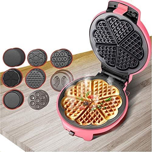 FYSY Mini Maker Bügeleisen for einzelne Waffeln Paninis mit Antihaftbeschichtete Platten for andere auf den Go Frühstück oder Snacks fangkai77