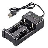 RUIHUA Cargador de batería de Doble Ranura USB con Cable, 18650 Linterna de Alta Potencia comisiones de Manera Independiente baterías de Litio de 3,7 V cilíndrica 2