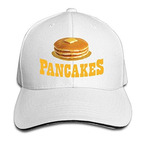 Fairyland 男女兼用 ハワイのパンケーキ 美食 グルメ ヒップホップ 平らつば BBキャップ ホワイト One Size