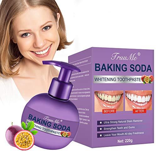 Backpulver Zahnpasta, Stain Removal Toothpaste, Fluoridfreie Zahnpasta, Reinigung der Zähne Beseitigung Zahnflecken zur gründlichen, Süße Granadilla