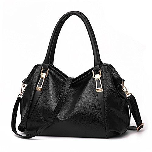CMZ Backpack Shoulder Bag Female Bag Middle-Aged Lady Casual Fashion PU Soft Bag Messenger Handbag Messenger Bag