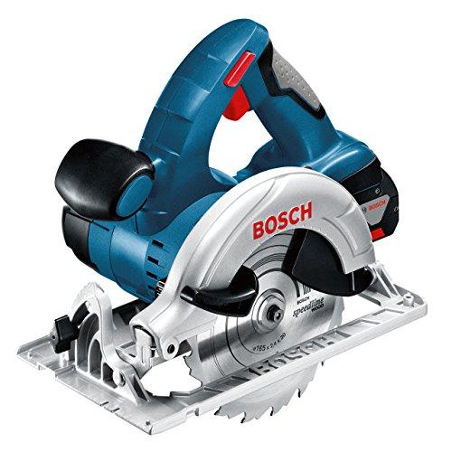 Bosch Professional Scie circulaire Sans Fil GKS 18 V-LI (18V, Ø alésage : 20 mm, 2 x 4,0 AH Coffret L-BOXX)