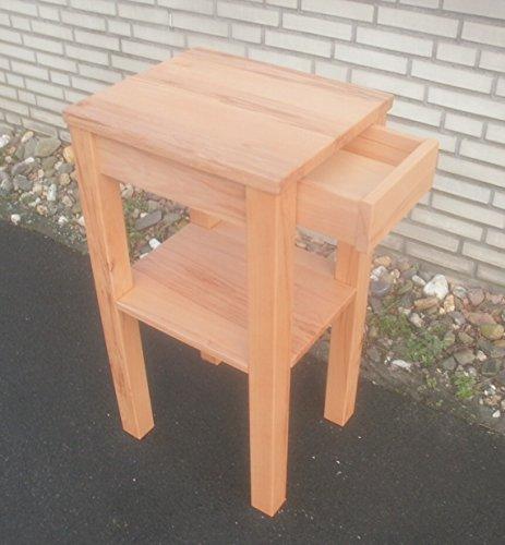 Telefontisch Beistelltisch Holztisch Kernbuche massiv. Maße : 50x40x90cm hoch. Massanfertigung.