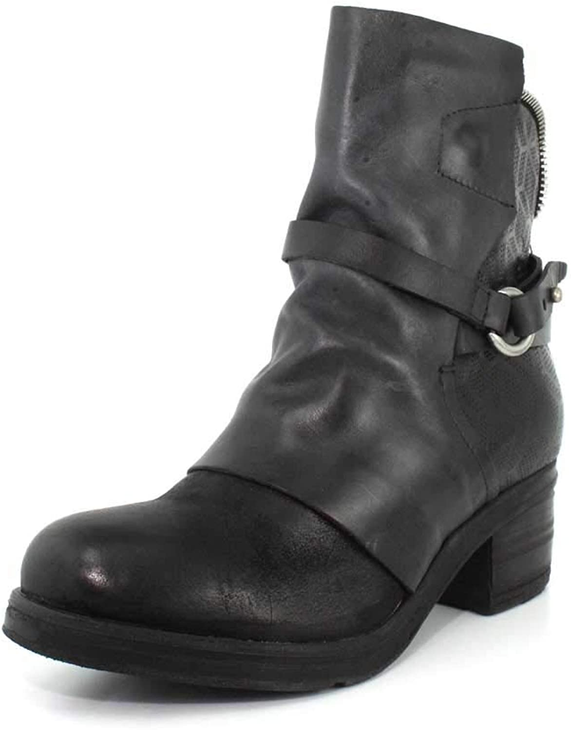 Miz Mooz Womens Salma Leather Cap Toe Mid-Calf Fashion Boots