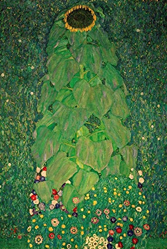 Girasol Jigsaw Puzzle austriacos pintor Klimt Obras - 999 hojas verdes - 300/500/1000 las piezas del rompecabezas for adultos famosa pintura, regalos de decoración de interior juguetes educativos crea