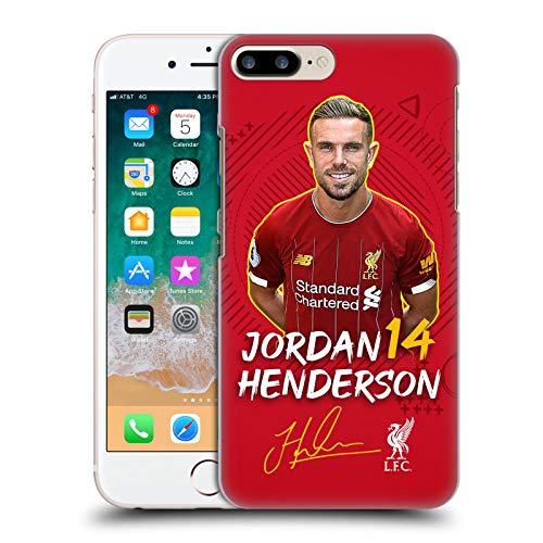 Oficial Liverpool Football Club Jordan Henderson 2019/20 Primer Equipo Grupo 1 Carcasa rígida Compatible con Apple iPhone 7 Plus/iPhone 8 Plus