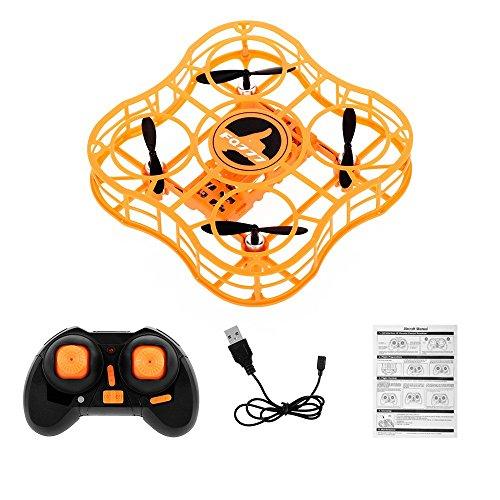 LIZONGFQ FQ777 FQ03 Mini Drone Full Shields 360 Flip One Key Return Drones modalità Senza Testa Quadricottero RC per Principianti Orange