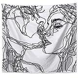 Abillyn Tapisserie Frauen/Herren Abstrakte Skizze Kunst