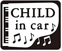 imoninn CHILD in car ステッカー 【マグネットタイプ】 No.42 ピアノ (黒色)