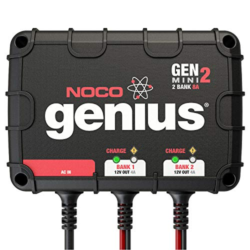 NOCO Genius GENM3, 3-Bank, 12-Amp (4-Amp Per Bank) Fully-Automatic Smart Marine Charger, 12V Onboard Battery Charger And Battery Maintainer