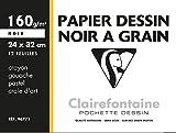 Clairefontaine 96771C - Un pochette Dessin à Grain Etival 12 feuilles 24x32 cm 160g,...