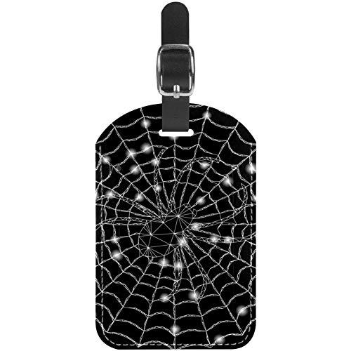 Etichette per bagagli Etichette per valigie da viaggio in pelle a rete con ragnatela 1 confezioni