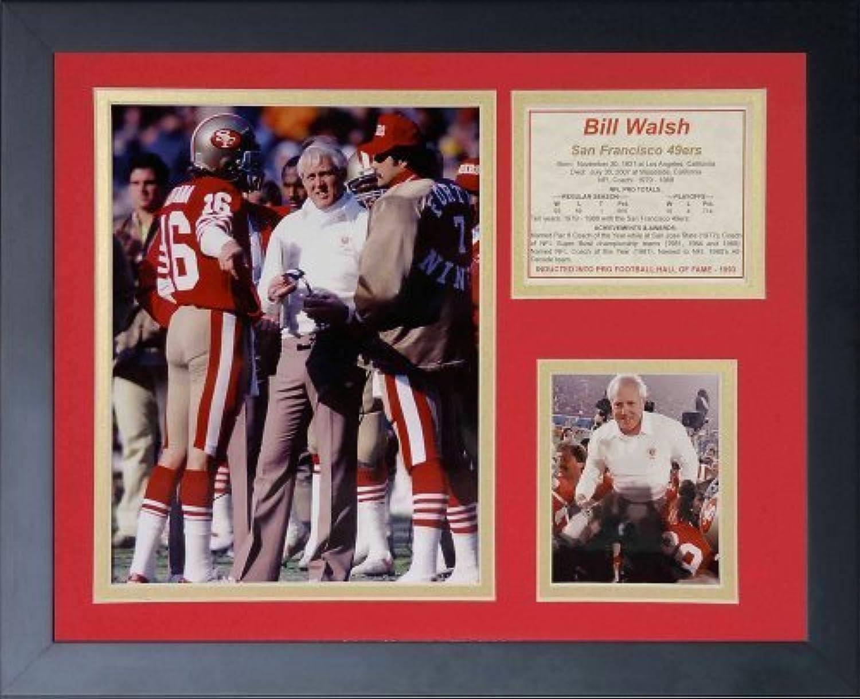 Legenden Sterben Nie  Bill Walsh  gerahmtes Foto Collage, 11x 35,6cm von Legends Never Die