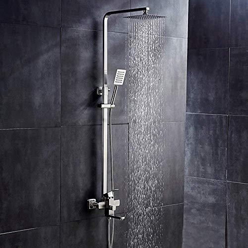 LULUTING CQS Acero Inoxidable 304 Juego de Ducha de baño de los hogares Grifo de la Ducha Baño Ducha Cabeza montado en la Pared Hermosa práctica